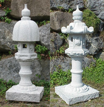 Natural Granite Hand Carved Stone Lantern Japan Pagoda Garden Statue ...