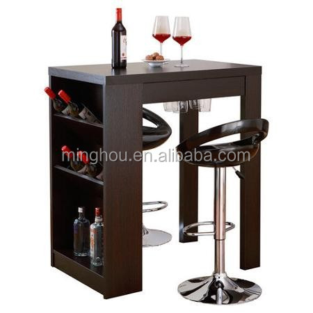 Elegant and functional home wine rack bar table