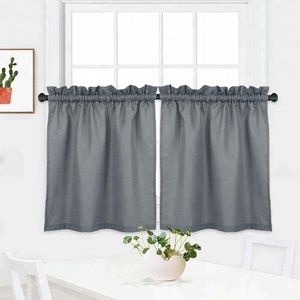 new products waterproof drapes fancy kitchen curtain