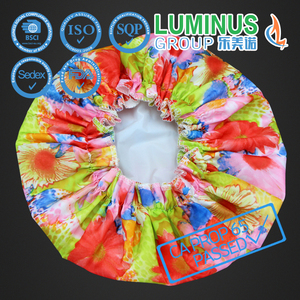 PVC Personalized Colorful Shower Cap Making with Fashion Design