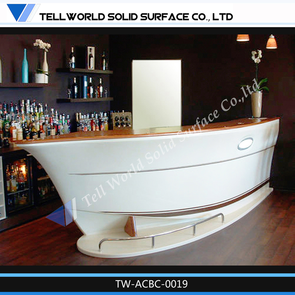 Tell World Modern Commercial Wooden Cafe Bar Counter Design - Buy ...