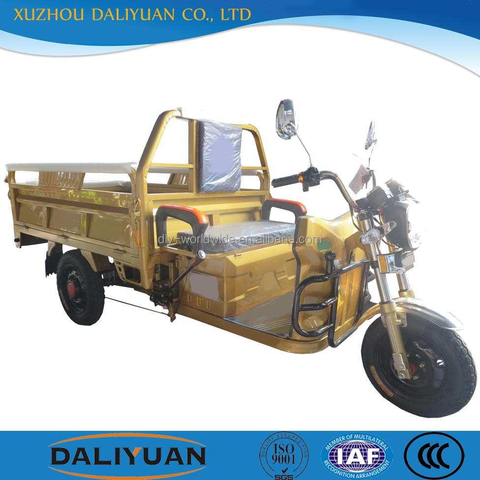 Daliyuan electric cargo 3 wheel pocket bike bajaj three wheeler price/3 wheel motorcycle/cargo bike