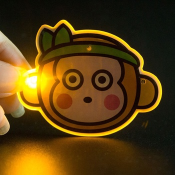 Hot Products Newest Custom Shaped Items LED Flashing Magnetic Pin