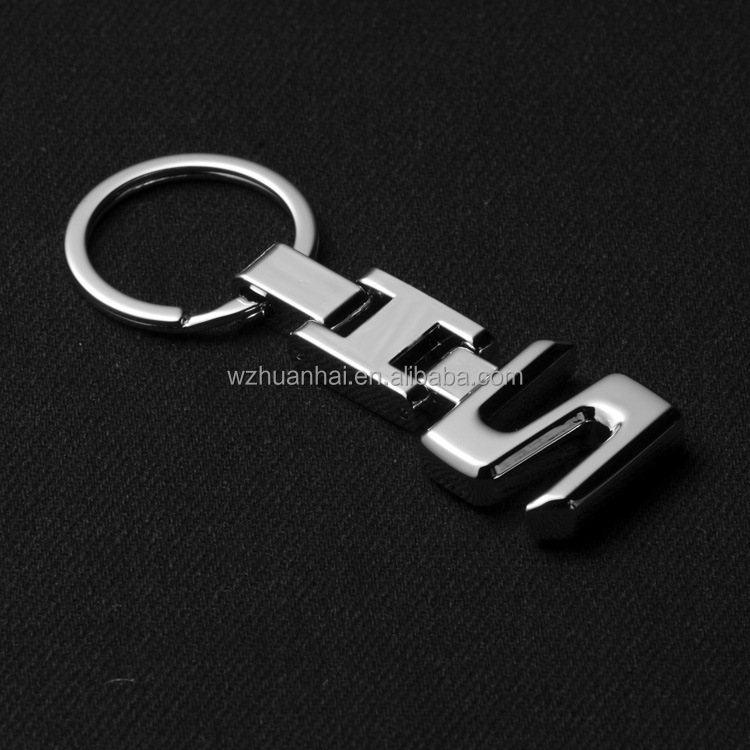 wholesale mix bulk silver plating s letter keychain sets