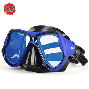 China Deep Sea Diving Equipment Adult Colorful Silicone Diving Spearfishing Mask
