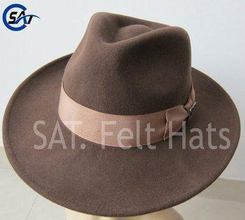 ... where to buy fashion 100 wool felt brown indiana jones hat e6328 02273 a4dbfaeac36