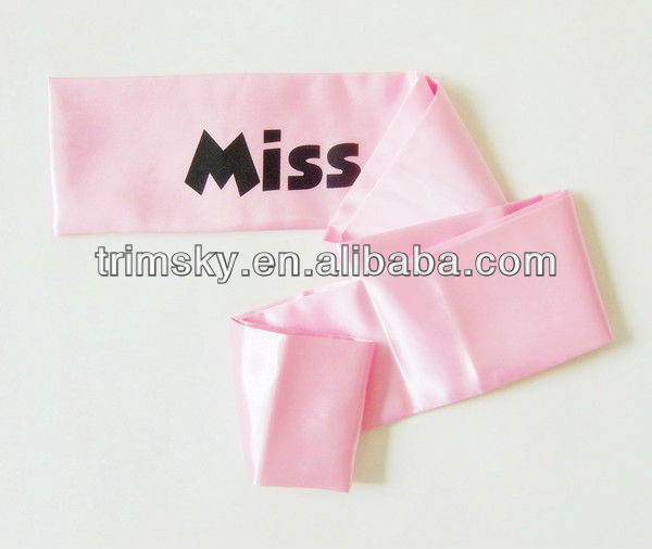 Printed Pageant Sash