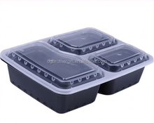 black base clear lid BPA free disposable meal prep containers