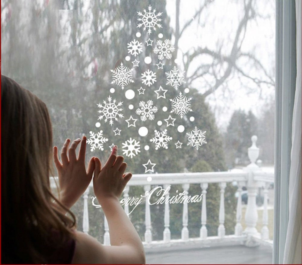 get quotations akoak snowflake window clings christmas window decorationssnowflakes completely according to your imagination to paste - Cheap Christmas Window Decorations
