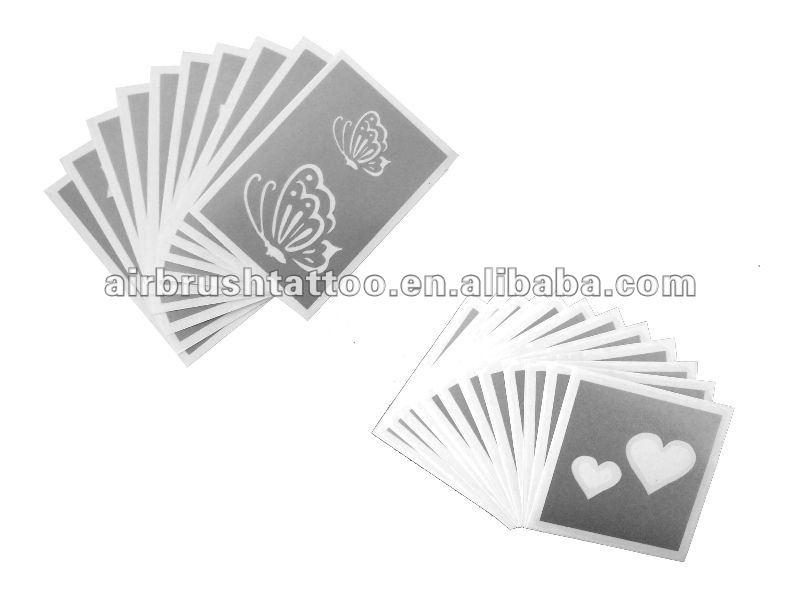 Auto adesivi riutilizzabili temporaneo glitter tattoo for Stencil adesivi
