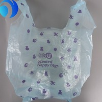 High quality customized disposable plastic baby changing nappy bags in pack
