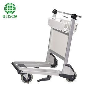 Best selling aluminum alloy airport trolley with auto brake/Airport baggage trolley/Mini folding luggage cart