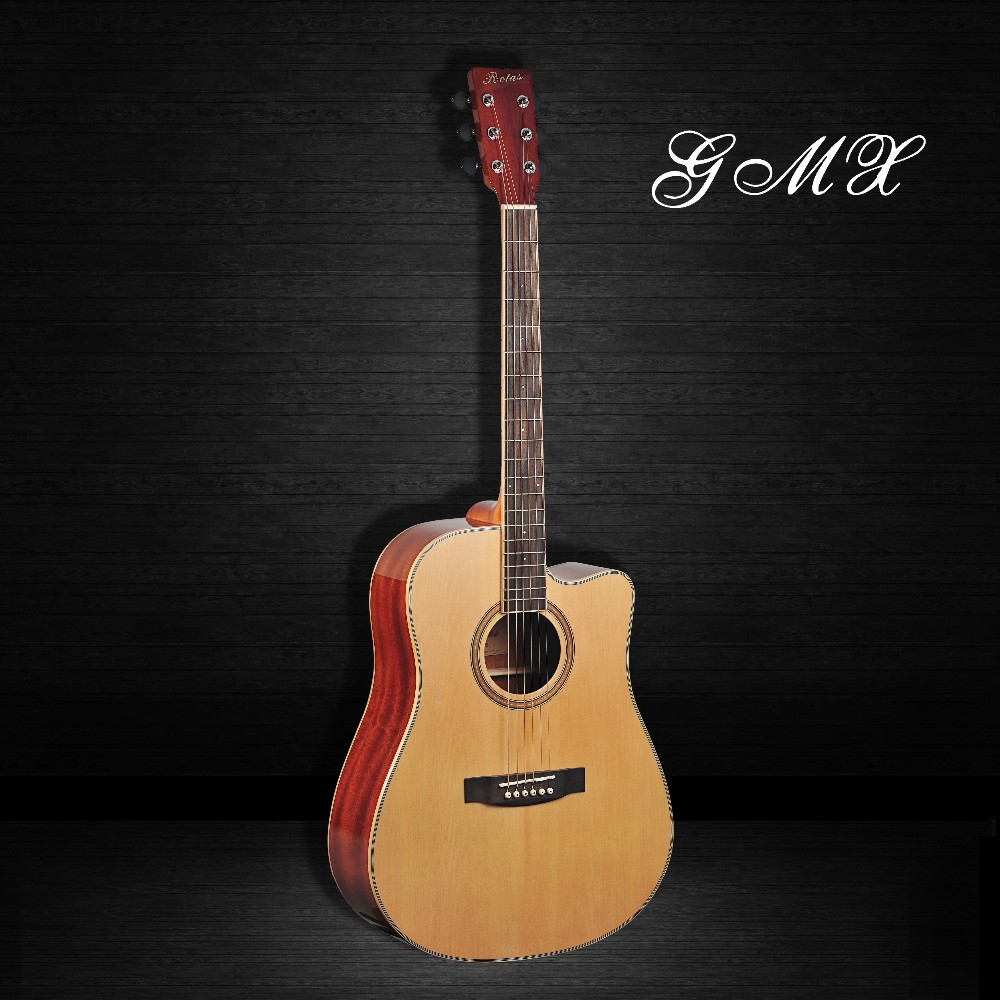 All Solid Wood Guitar Solid Body Acoustic Electric Guitar Wood For