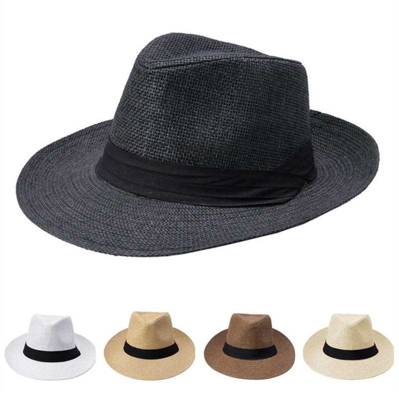 De los hombres de la moda de las mujeres Sol de Panamá sombrero de paja  cinta deb25225c88