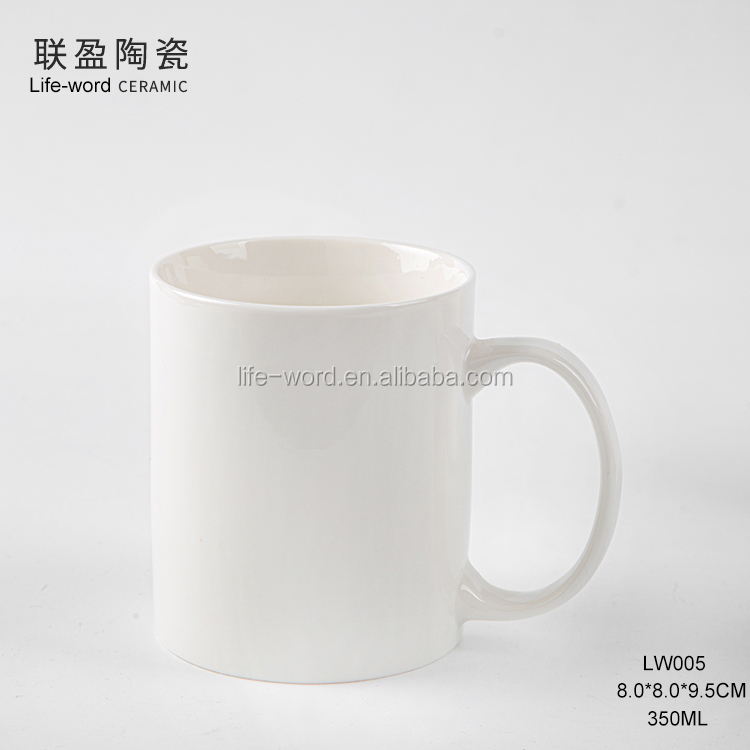 high quality free sample european market 11oz custom coffee mug white mug