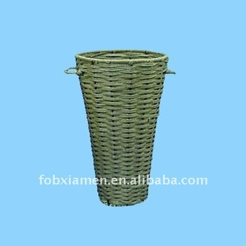 Tall wicker flower vase