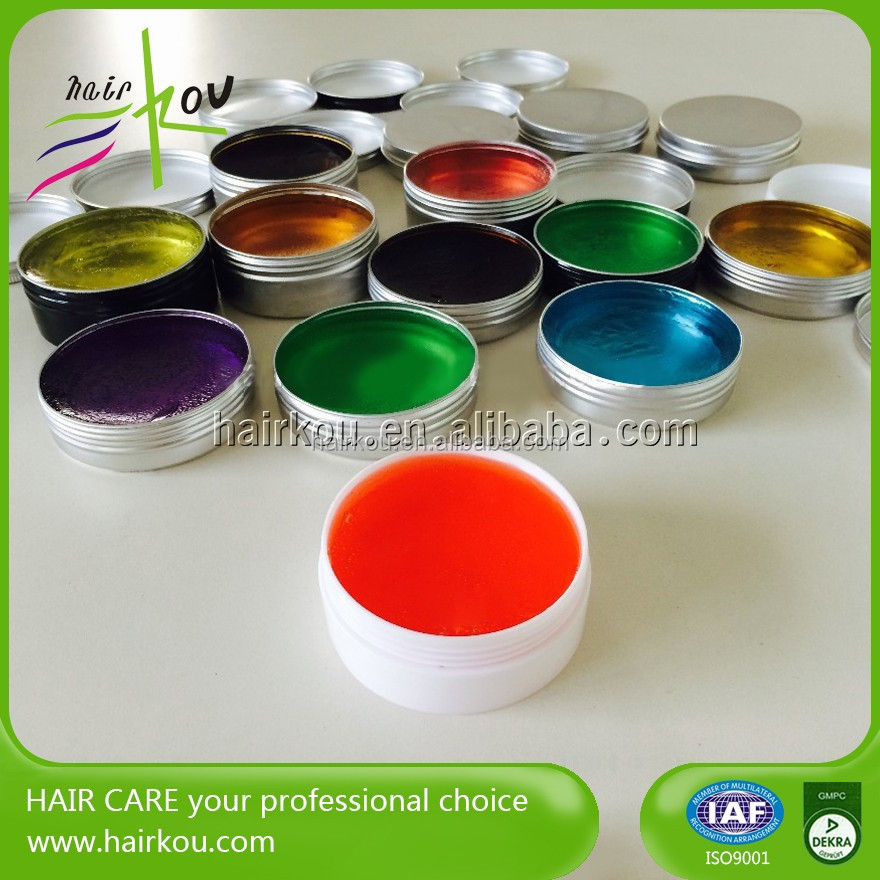 Water Based Colorful Hair Pomade Factory Private Label Pomade Wax