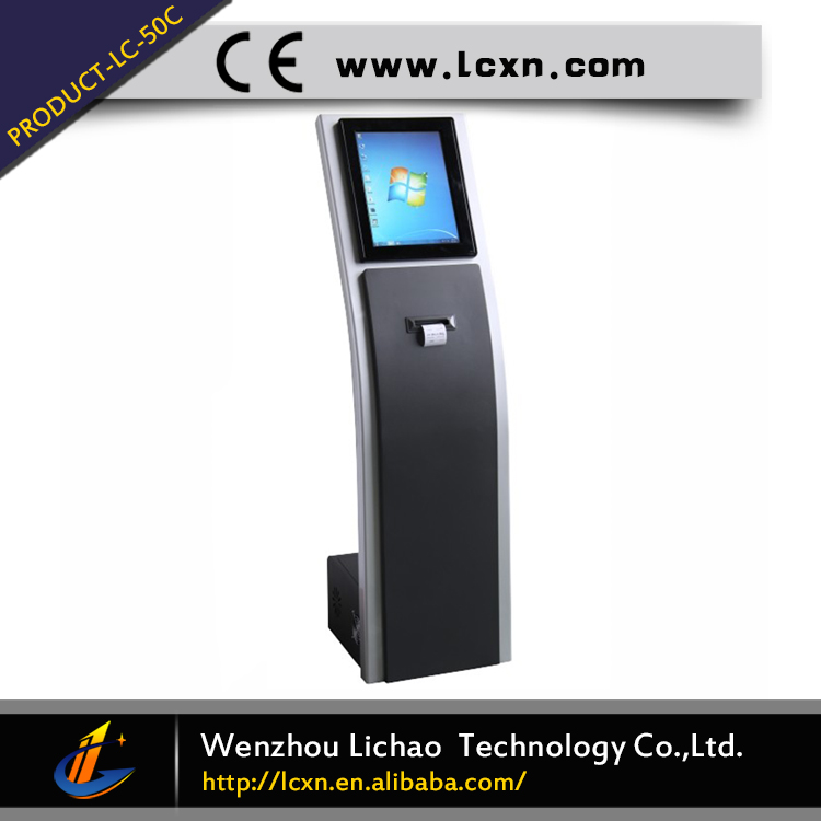 17inch automatic electronic ticket dispenser with best software best selling queuing ticket machine