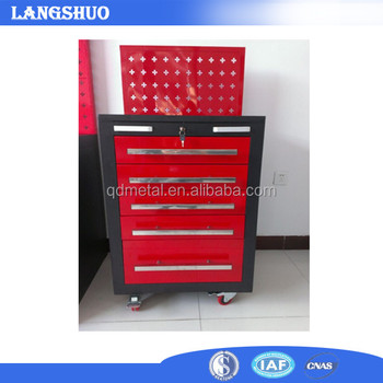 76ff5f76682 Kraftwelle Tool Trolley With Back Board Garage Tool Chest Roller Cabinet  With Drawer