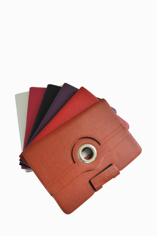 360 rotation PU cover for ipad case
