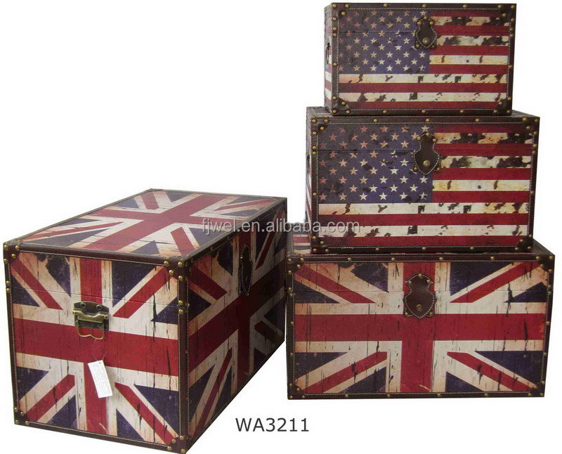 uk anf us flag decorative storage trunks shabby chic distress old looking buy large decorative storage trunkcolorful storage trunksantique storage trunk - Decorative Storage Trunks