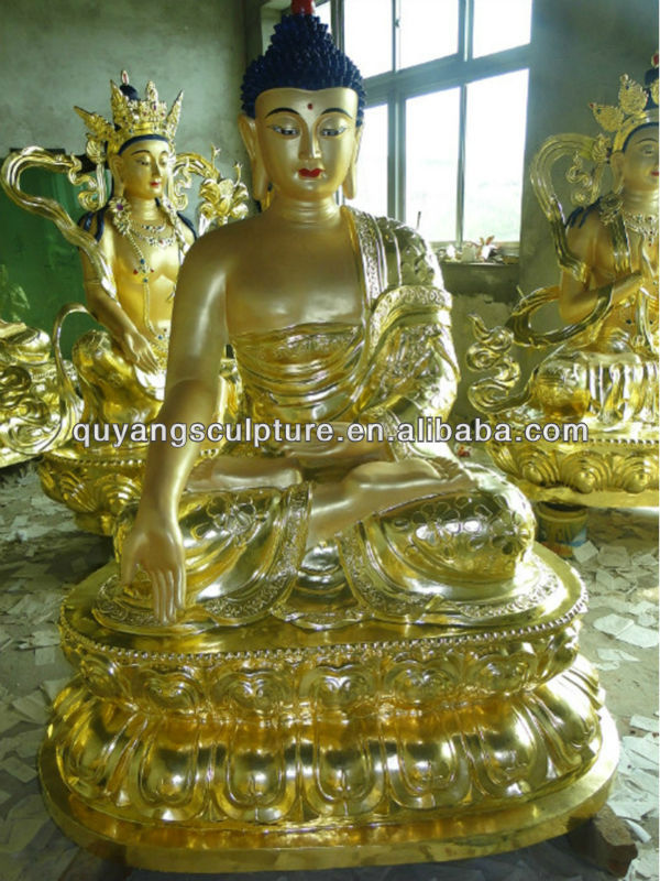 Large Bronze Buddha Statues For Sale With Gold Color
