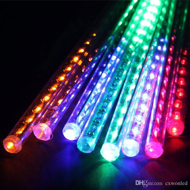 multicolor RGB rainfall meteor shower tube light for party tree decorate