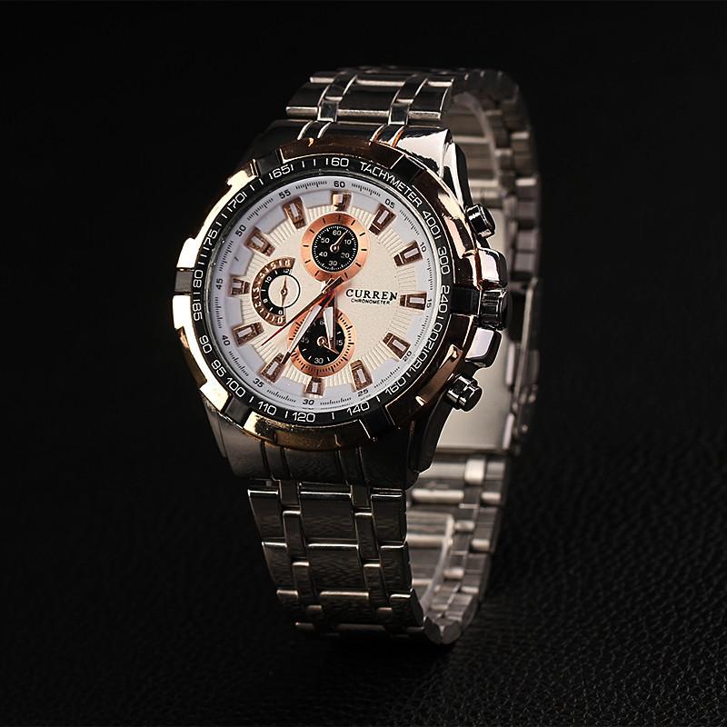 Curren человек часы военное движение наручные часы черный и серебристый цвет стали аналоговый кварцевые наручные часы для мужчин XR786