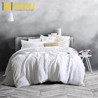 French Flax Linen Sheet Set Breathable and Durable Bedding Set White