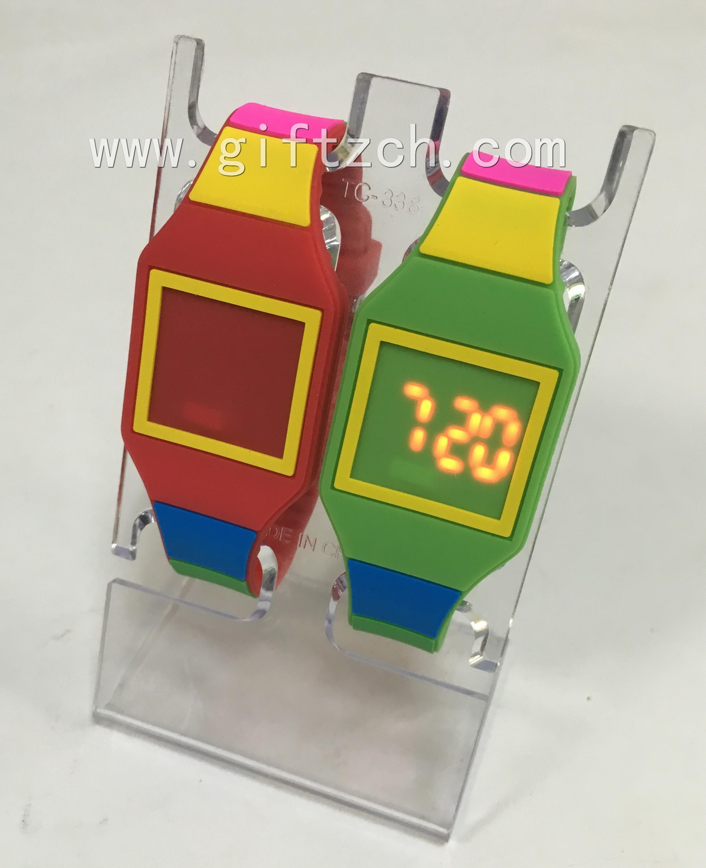 Rainbow children Silicone touch LED watch