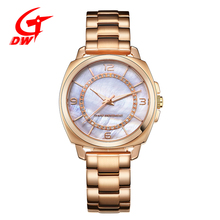 IP rose gold plating stainless steel fancy ladies watch fashionable