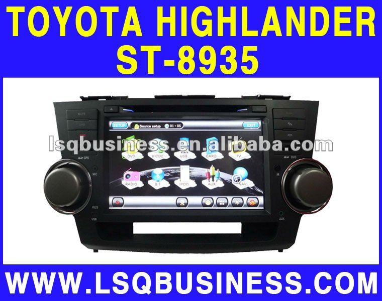LSQ Star Hot Selling (new) 8 inch TOYOTA HIGHLANDER car dvd player with android,wifi,3 G internet(SIM card), GPS,bluetooth,Ipod