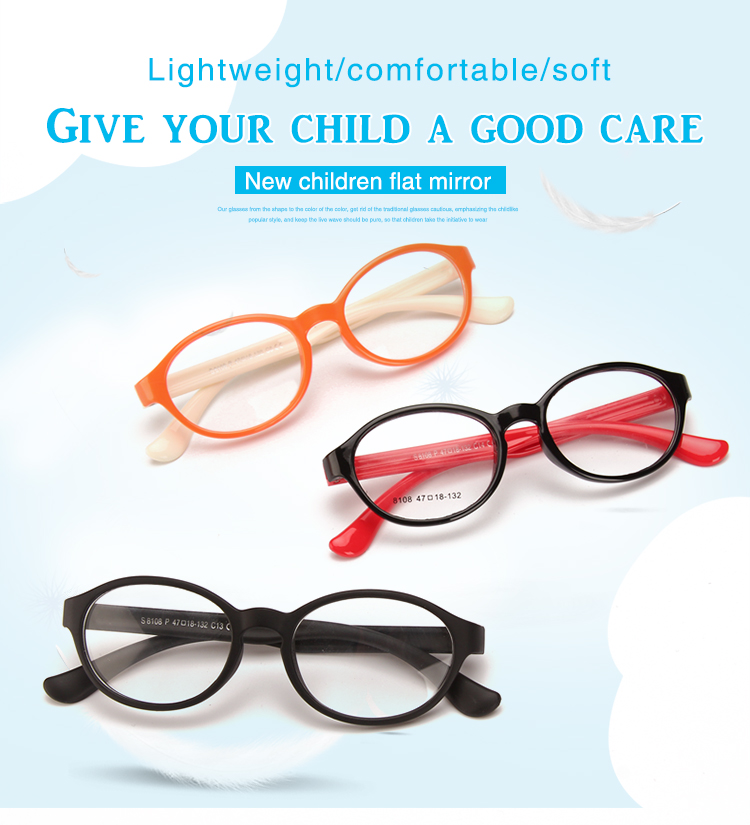 0134b137ae01 Rubber Flexible Frames Glasses Optical Eyewear TPEE Reading Glasses For Kid  Children