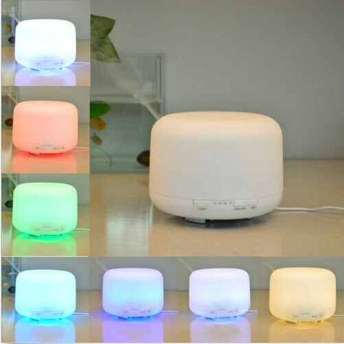 Aroma Diffuser 500ml 7 Color Ultrasonic Humidifier LED Changing Lonizer