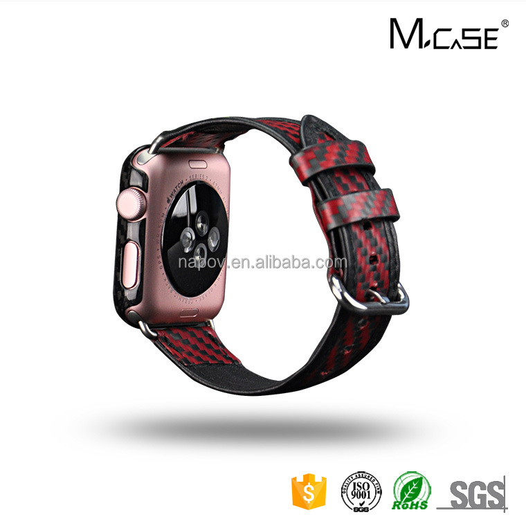 High Grade Carbon Fiber Watch Bands Leather Thin Unisex with Watch Band Extenders Sport Factory Directly