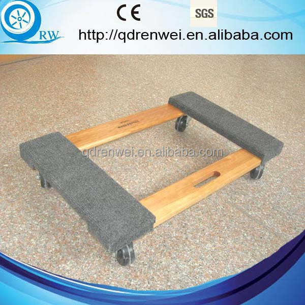 carpet end moving dolly wood furniture dolly with four wheels