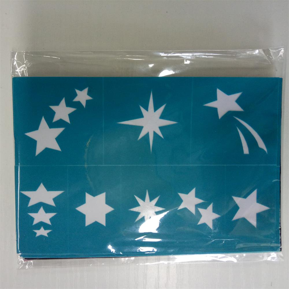 Temporary Waterproof custom body art color adhesive sticker stencil for painting