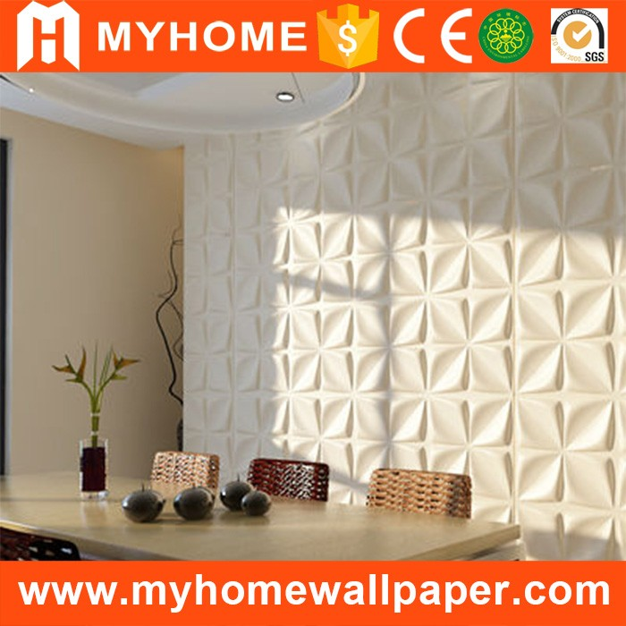 MyHome new design decorative waterproof 3d board wall panel with embossed design