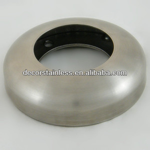 Round base plate with cover railing