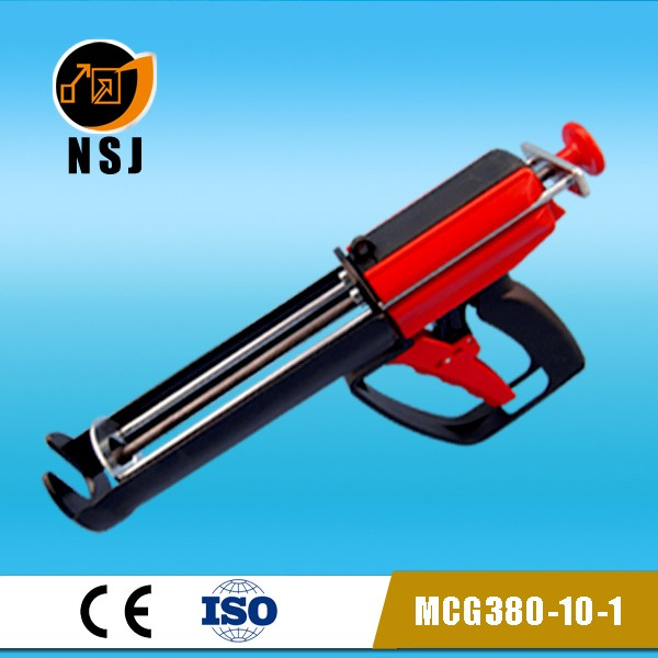 400ml 10:1 coaxial cartridge caulking gun/epoxy dispenser/manual caulking gun