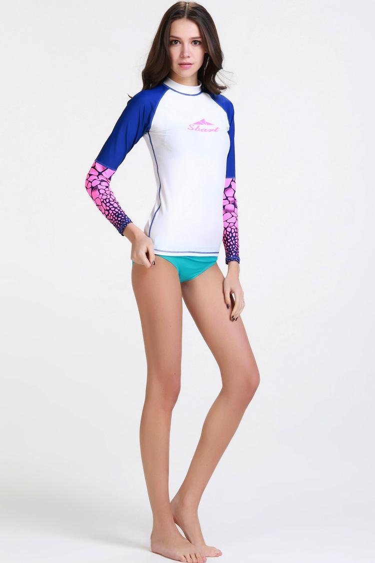 womens rash guard surf shirts