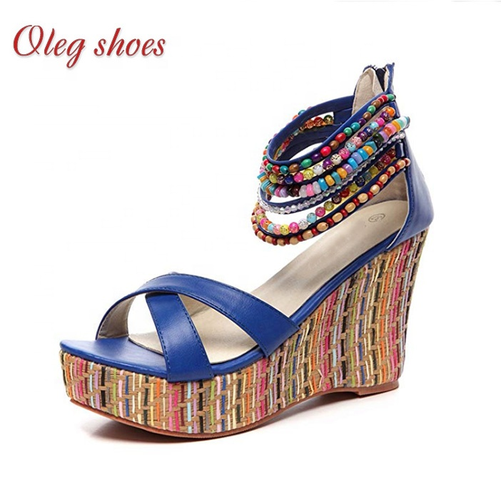 5ae14e3ad6 China Wedge Sandals With Beads, China Wedge Sandals With Beads  Manufacturers and Suppliers on Alibaba.com