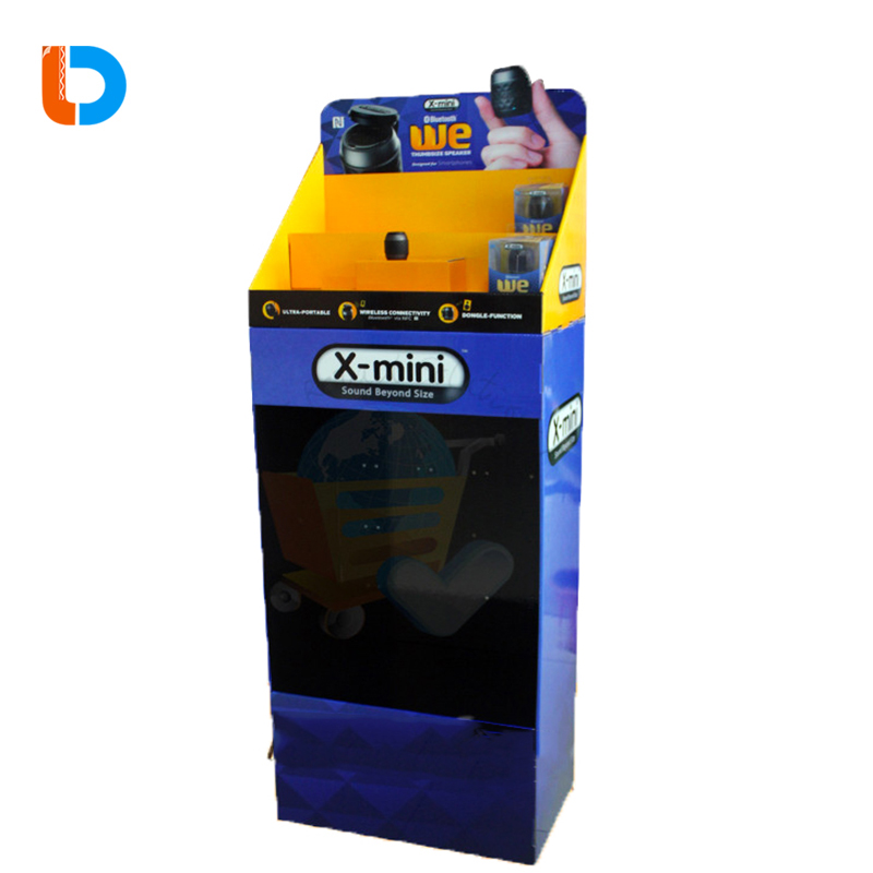 High Quality Custom Retail Cardboard Advertising Car Audio Display Stand