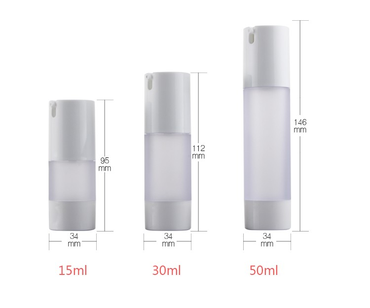 15ml 30ml 50ml Small Type Custom Plastic Spray Clear Airless Pump Bottle