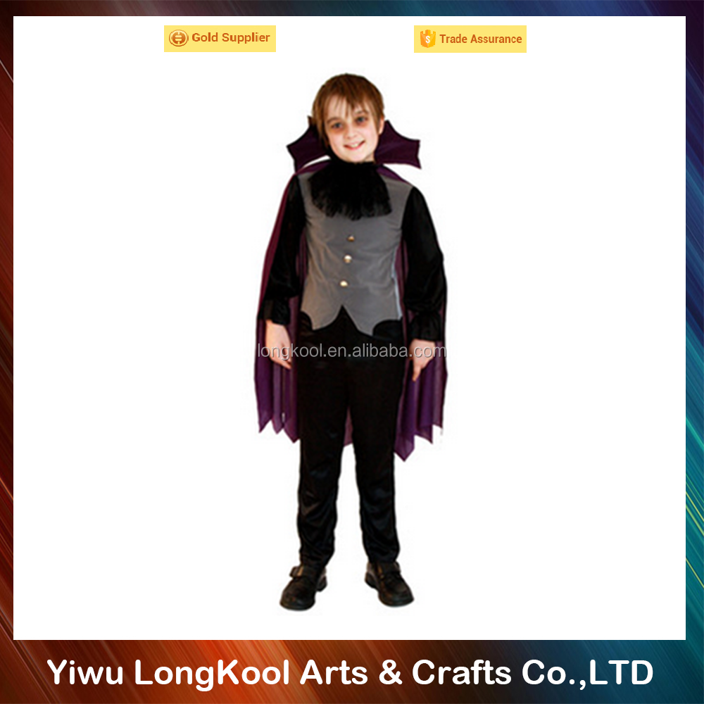 Latest design halloween cosplay costume children handsome vampire costume