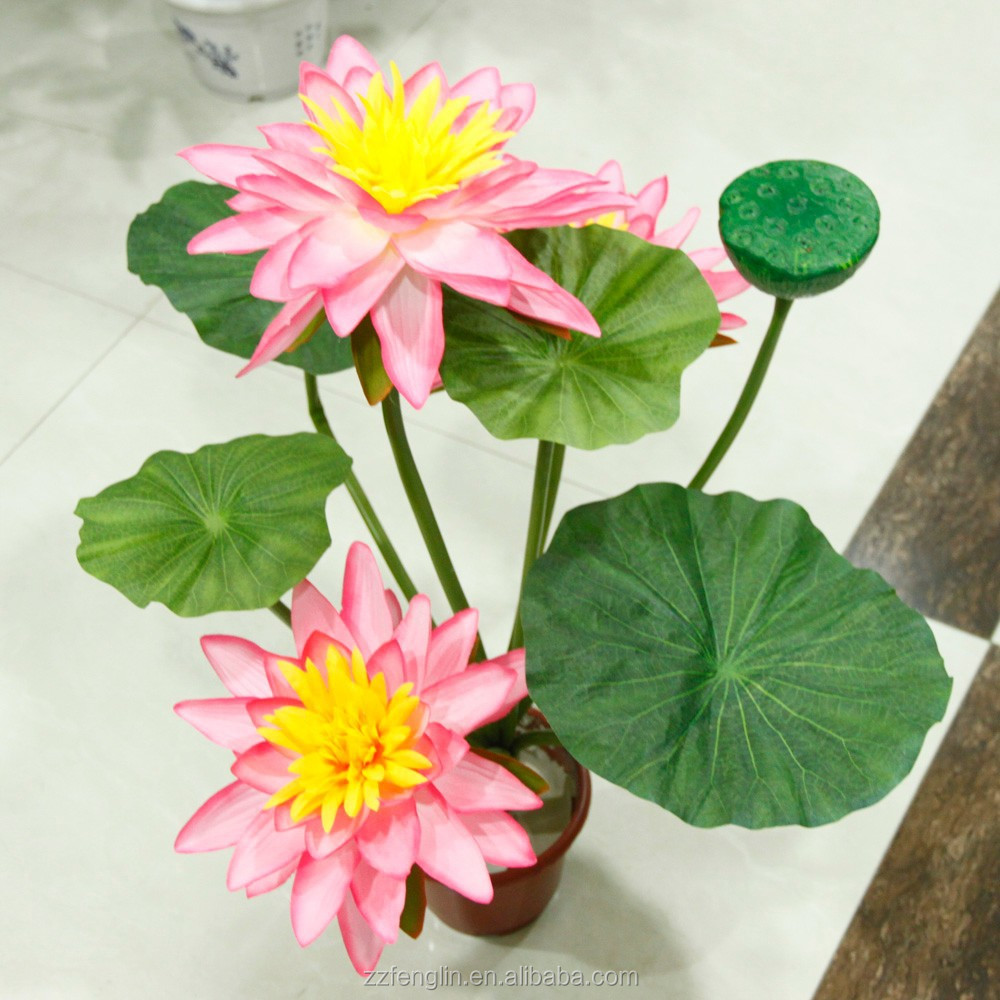 Hot sale china factory cheap wholesale artificial lotus flower hot sale china factory cheap wholesale artificial lotus flower bonsai silk lotus flower for inner door decoration buy artificial lotus flower bonsaisilk izmirmasajfo