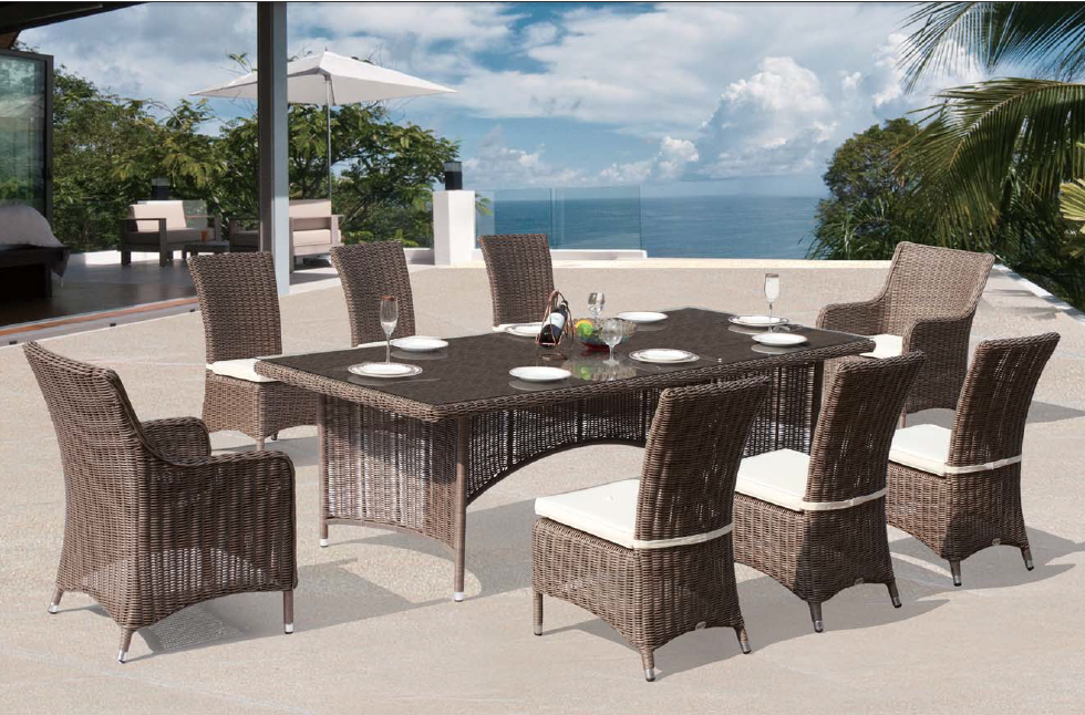Dining Set Tuin : Rieten patio outdoor dining set tuin rotan stoel restaurant