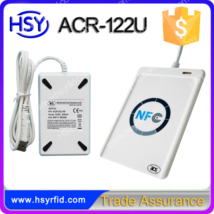 ACR-122U high frequency usb port 13.56mhz nfc chip tag NFC reader with SDK