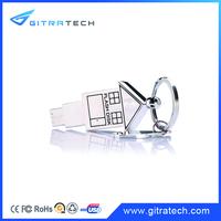 House Shaped USB Flash Drive Keyring USB Memory