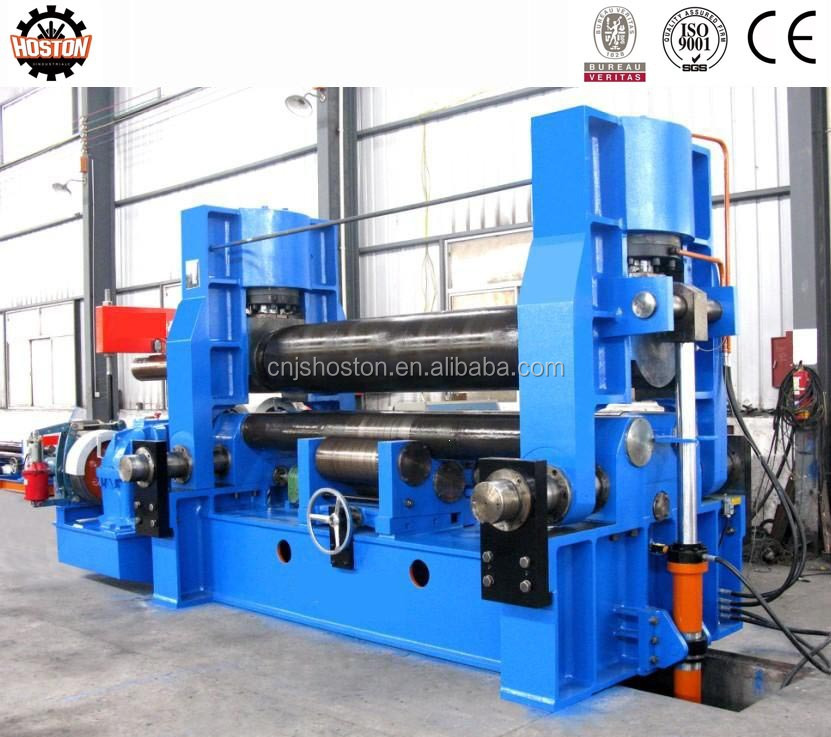 HOSTON W12 series 4-roller rolling machine roll to sheet cutting machine